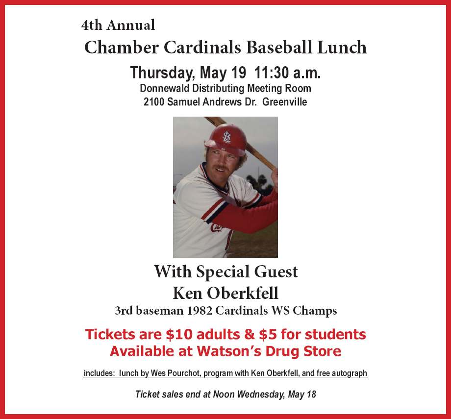 Chamber Cardinals Baseball Lunch - May 19, 2016